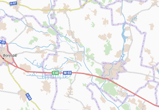 Carte-Plan Baryshivka