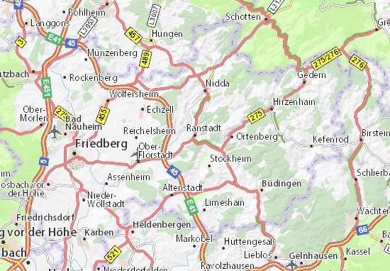 Karte Stadtplan Ranstadt