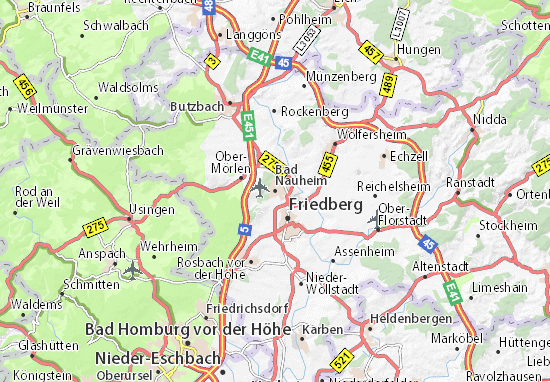 Carte-Plan Bad Nauheim