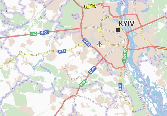Mapa Plano Kryukivshchyna