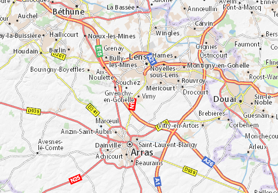 Map Of France Vimy.Map Of Vimy Michelin Vimy Map Viamichelin