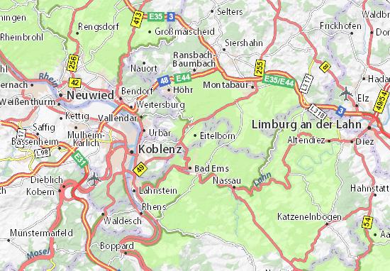 Eitelborn Map