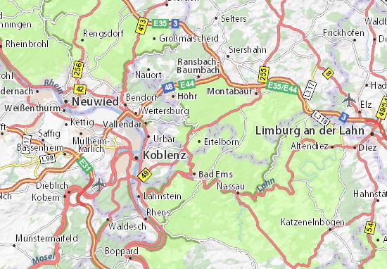 Karte Stadtplan Neuhäusel