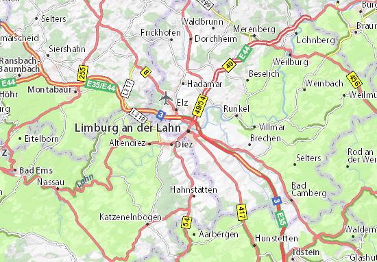 Carte-Plan Limburg an der Lahn