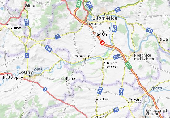 Mapa Plano Libochovice