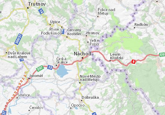 Náchod Map