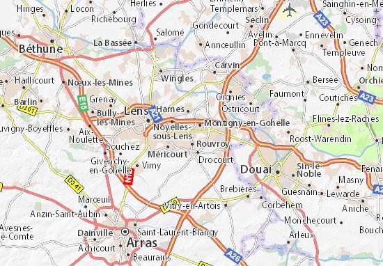 Carte-Plan Billy-Montigny