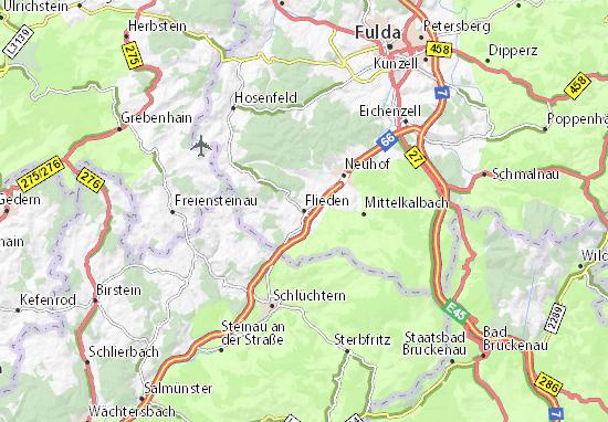 Karte Stadtplan Flieden