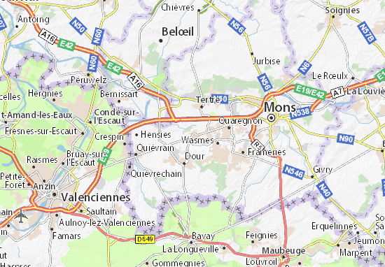Mapa Plano Boussu