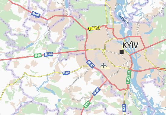 Mapas-Planos Petropavlivs'ka Borshchahivka