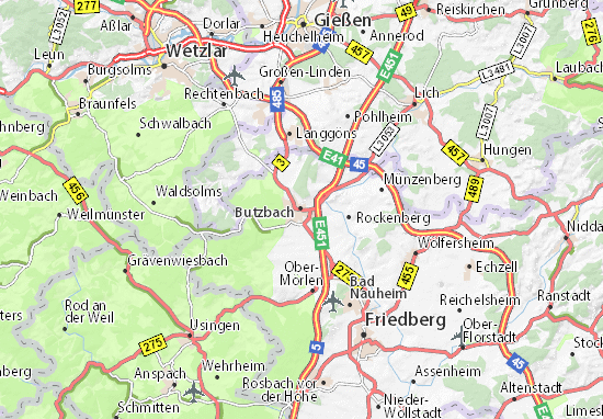 Butzbach Map: Detailed maps for the city of Butzbach - ViaMichelin