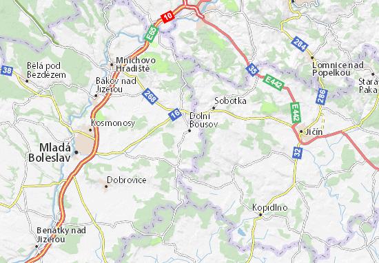 Carte-Plan Dolní Bousov