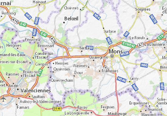 Saint-Ghislain Map