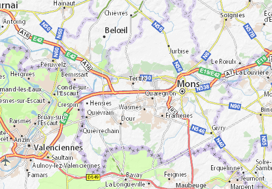Carte-Plan Saint-Ghislain