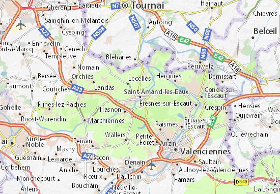 Carte-Plan Saint-Amand-les-Eaux