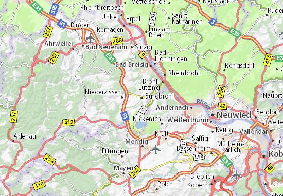 Carte-Plan Burgbrohl