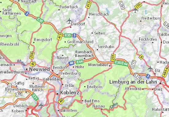 Carte-Plan Ransbach-Baumbach