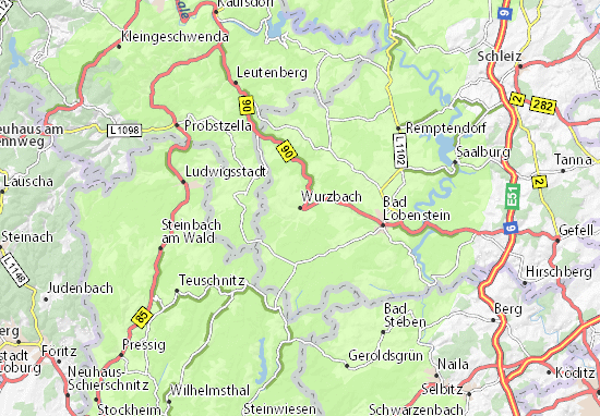Mapa Plano Wurzbach