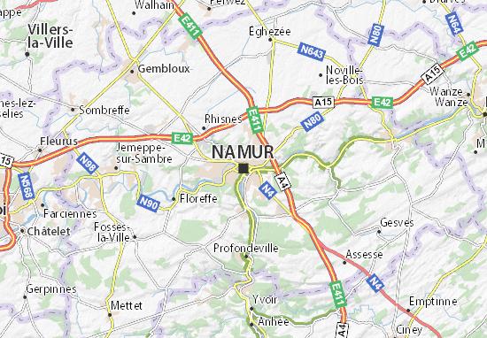 Kaart Plattegrond Namur