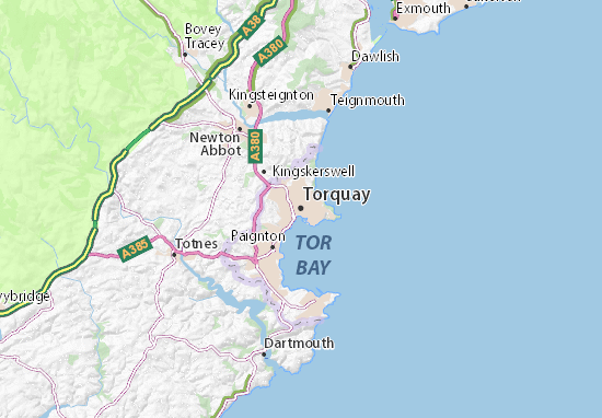 Torquay England Map.Torquay Map Detailed Maps For The City Of Torquay Viamichelin