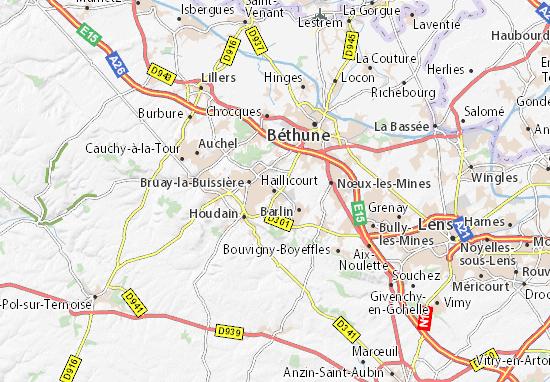 Carte-Plan Haillicourt