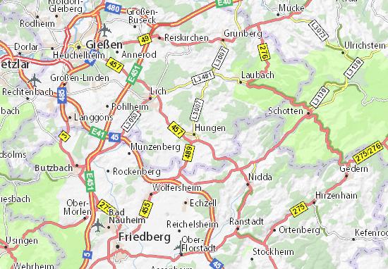 Karte Stadtplan Hungen