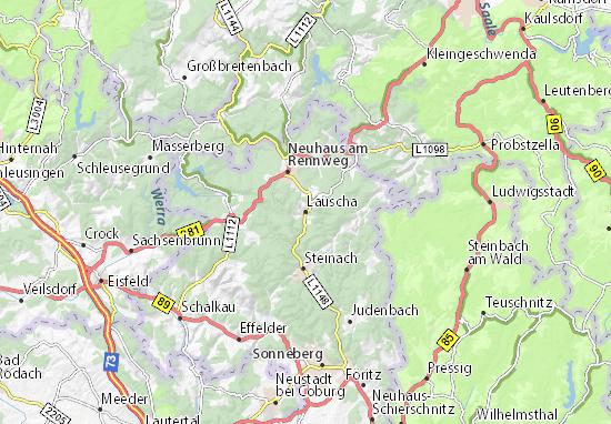 Carte-Plan Lauscha