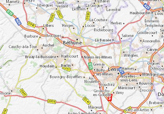 Carte-Plan Nœux-les-Mines