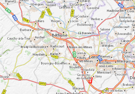Mapa Plano Nœux-les-Mines