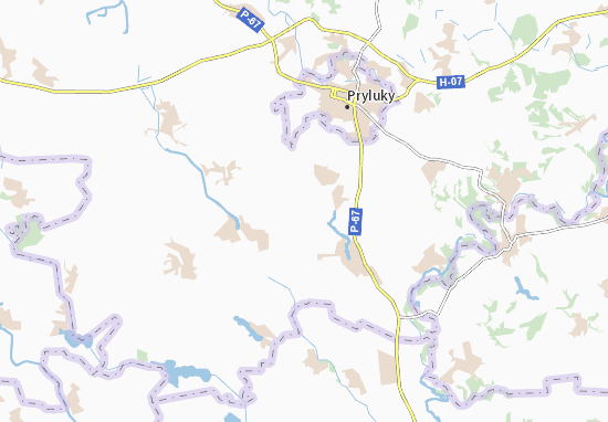 Mapa Plano Dan'kivka