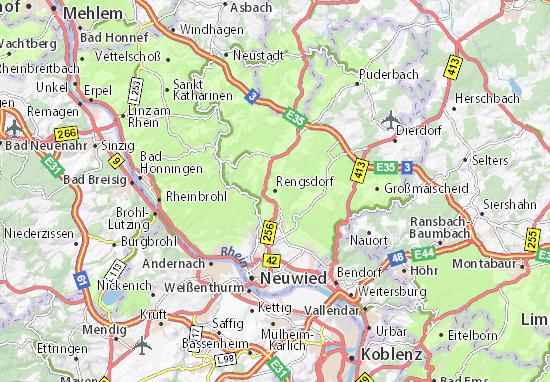 Karte Stadtplan Rengsdorf