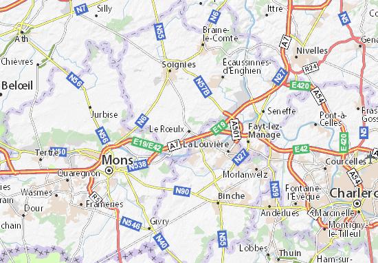 Carte-Plan Le Rœulx