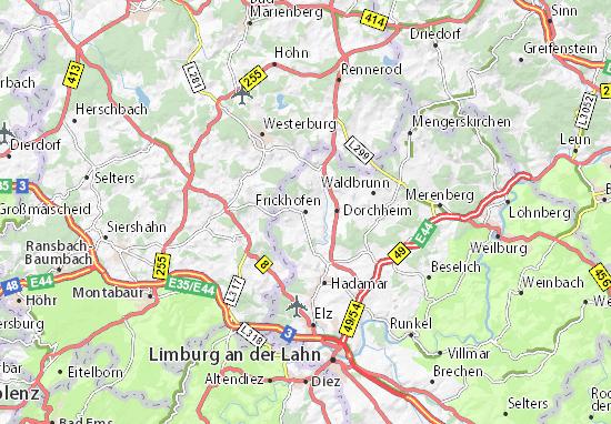 Karte Stadtplan Frickhofen