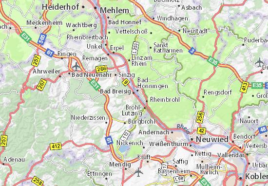 Karte Stadtplan Bad Breisig