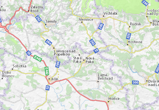 Stará Paka Map