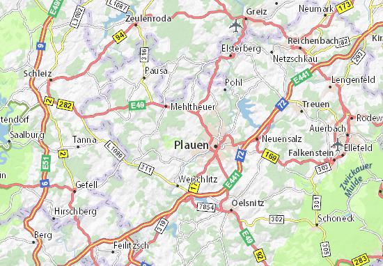 Zwoschwitz Map