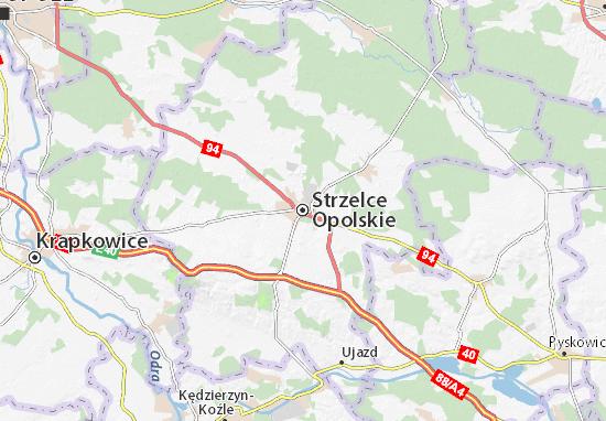 Carte-Plan Strzelce Opolskie