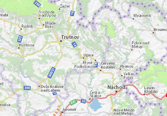 Úpice Map