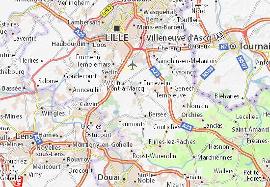 Carte-Plan Pont-à-Marcq