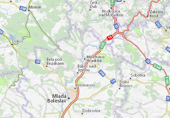 Mapas-Planos Mnichovo Hradiště
