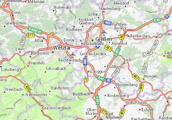 Map of Großen-Linden - Michelin Großen-Linden map - ViaMichelin