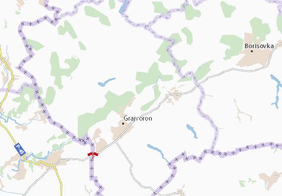 Kaart Plattegrond Dobroivanovka