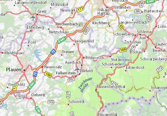 Rodewisch Map