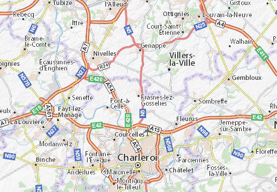 Carte-Plan Frasnes-lez-Gosselies