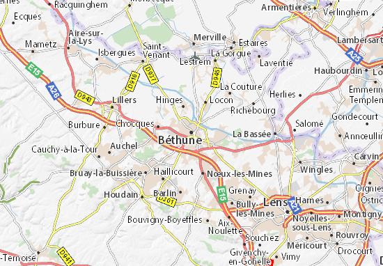 Mappe-Piantine Béthune