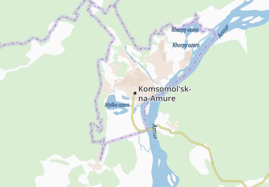 Carte-Plan Komsomol'sk-na-Amure