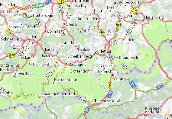 Carte-Plan Scheibenberg
