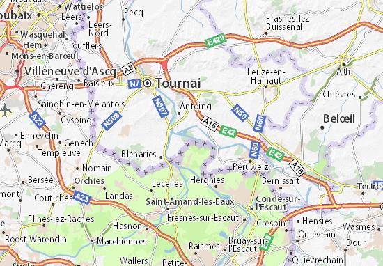 Parc Naturel des Plaines de l'Escaut Map: Detailed maps for the city on