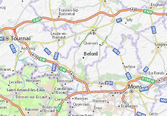 Kaart Plattegrond Belœil