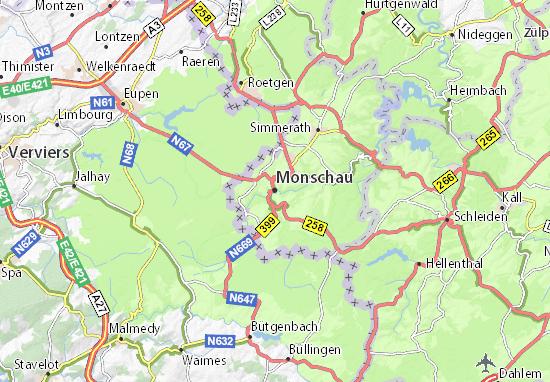 Carte-Plan Monschau